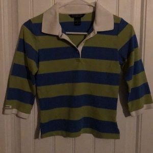 Abercrombie & Fitch 3 button front, size M. Stripe